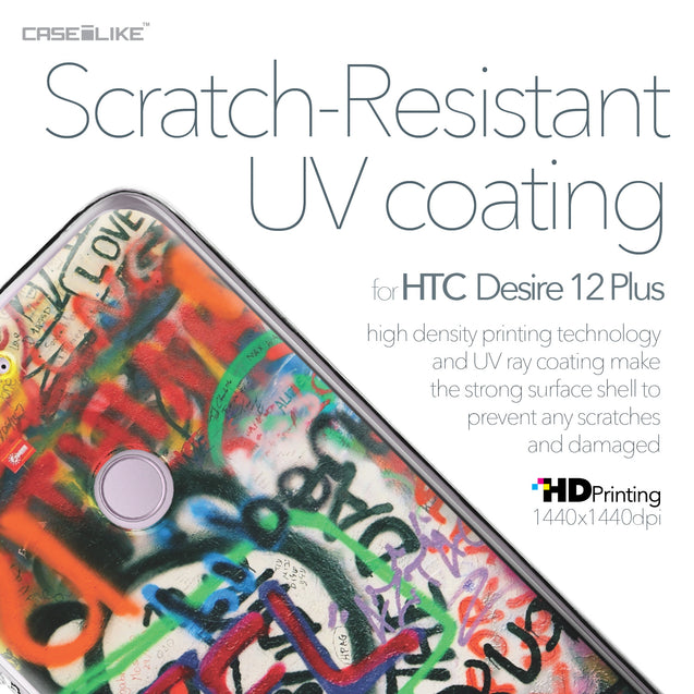 HTC Desire 12 Plus case Graffiti 2721 with UV-Coating Scratch-Resistant Case | CASEiLIKE.com