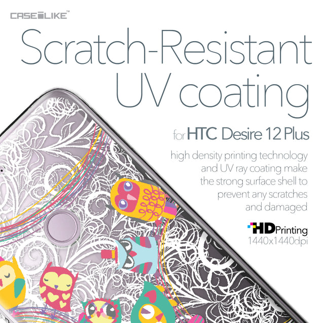 HTC Desire 12 Plus case Owl Graphic Design 3316 with UV-Coating Scratch-Resistant Case | CASEiLIKE.com