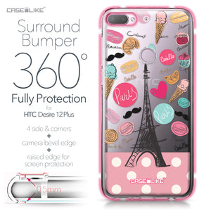 HTC Desire 12 Plus case Paris Holiday 3904 Bumper Case Protection | CASEiLIKE.com