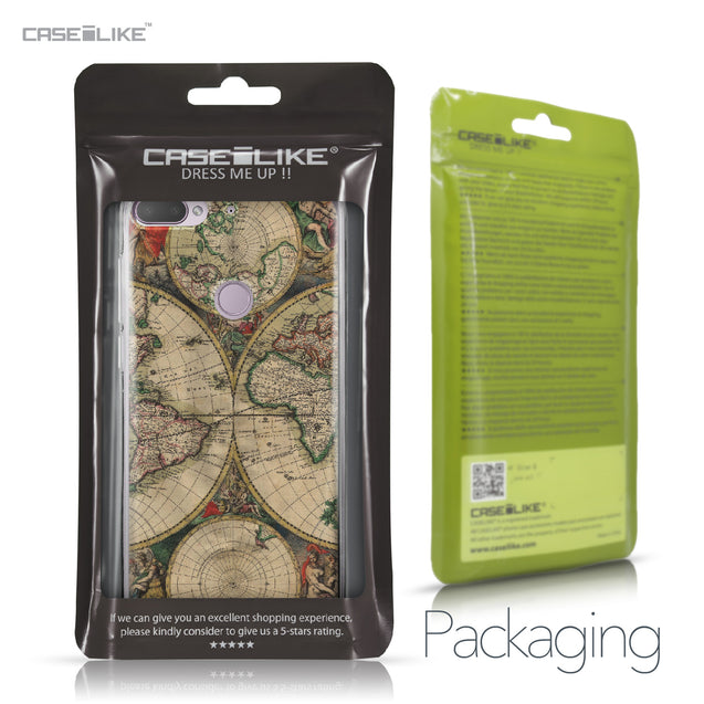 HTC Desire 12 Plus case World Map Vintage 4607 Retail Packaging | CASEiLIKE.com