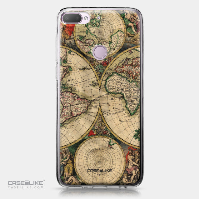 HTC Desire 12 Plus case World Map Vintage 4607 | CASEiLIKE.com