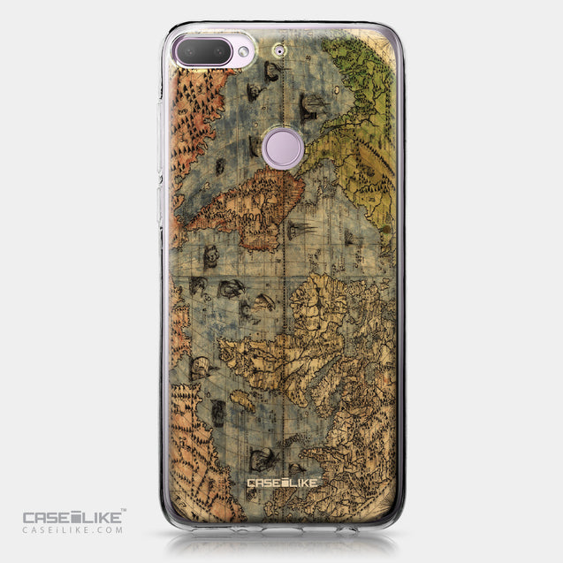 HTC Desire 12 Plus case World Map Vintage 4608 | CASEiLIKE.com