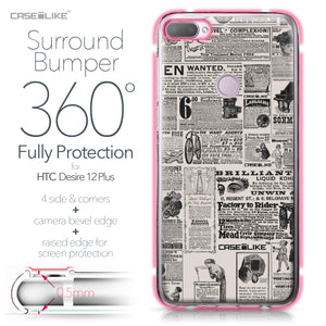 HTC Desire 12 Plus case Vintage Newspaper Advertising 4818 Bumper Case Protection | CASEiLIKE.com