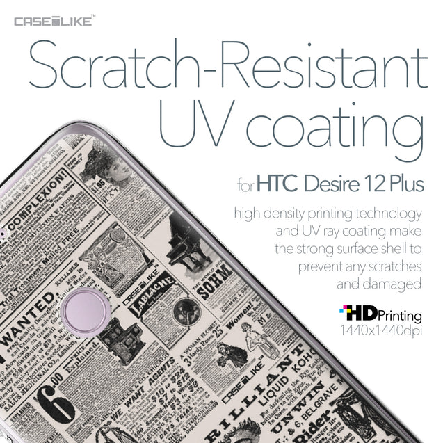 HTC Desire 12 Plus case Vintage Newspaper Advertising 4818 with UV-Coating Scratch-Resistant Case | CASEiLIKE.com