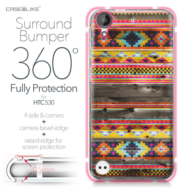 HTC Desire 530 case Indian Tribal Theme Pattern 2048 Bumper Case Protection | CASEiLIKE.com