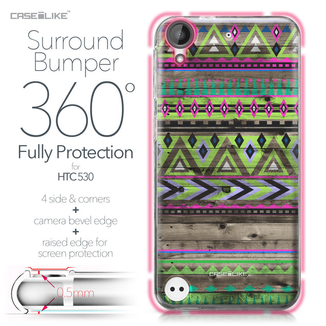 HTC Desire 530 case Indian Tribal Theme Pattern 2049 Bumper Case Protection | CASEiLIKE.com