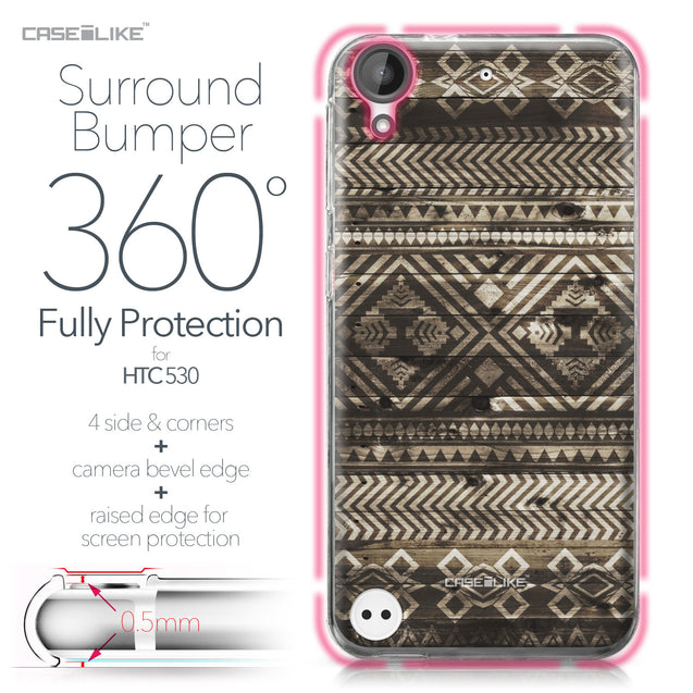 HTC Desire 530 case Indian Tribal Theme Pattern 2050 Bumper Case Protection | CASEiLIKE.com