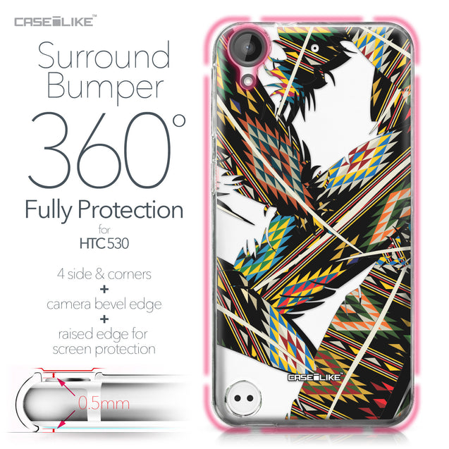 HTC Desire 530 case Indian Tribal Theme Pattern 2053 Bumper Case Protection | CASEiLIKE.com