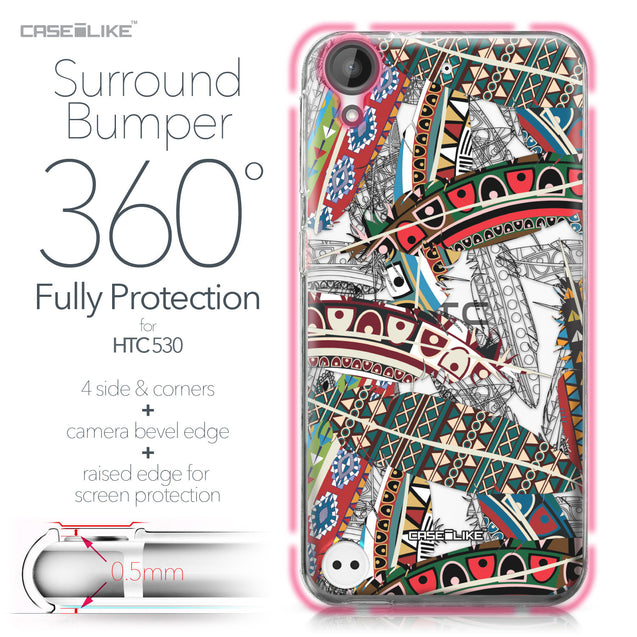 HTC Desire 530 case Indian Tribal Theme Pattern 2055 Bumper Case Protection | CASEiLIKE.com