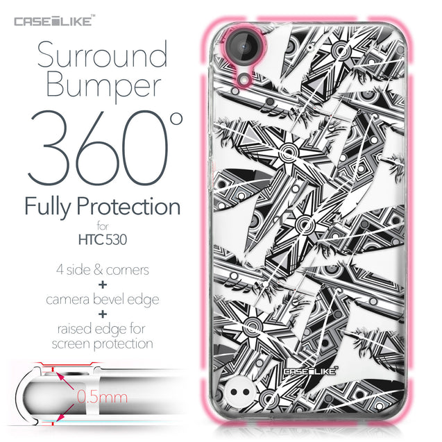 HTC Desire 530 case Indian Tribal Theme Pattern 2056 Bumper Case Protection | CASEiLIKE.com