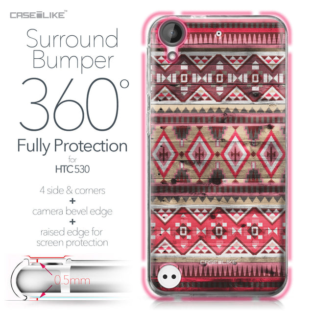 HTC Desire 530 case Indian Tribal Theme Pattern 2057 Bumper Case Protection | CASEiLIKE.com