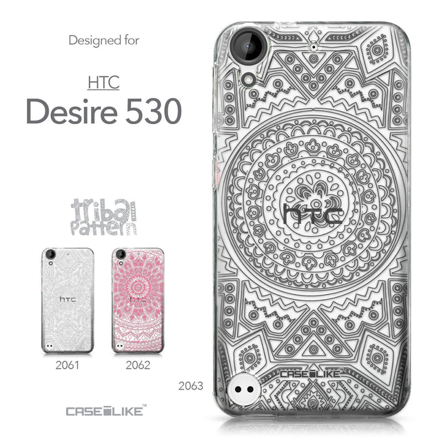 HTC Desire 530 case Indian Line Art 2063 Collection | CASEiLIKE.com
