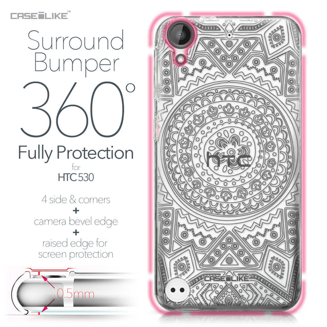 HTC Desire 530 case Indian Line Art 2063 Bumper Case Protection | CASEiLIKE.com