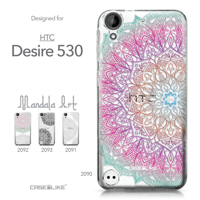 HTC Desire 530 case Mandala Art 2090 Collection | CASEiLIKE.com