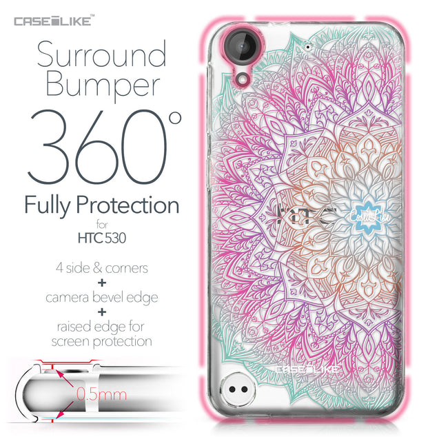 HTC Desire 530 case Mandala Art 2090 Bumper Case Protection | CASEiLIKE.com