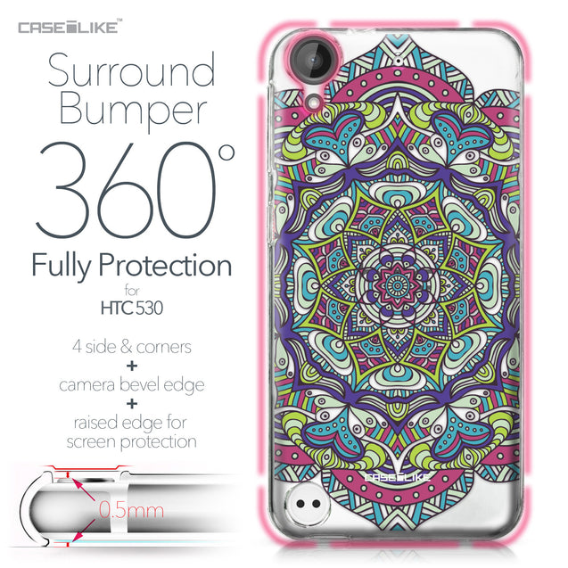 HTC Desire 530 case Mandala Art 2094 Bumper Case Protection | CASEiLIKE.com