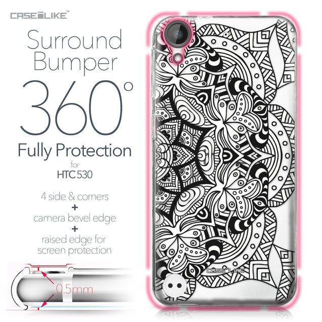 HTC Desire 530 case Mandala Art 2096 Bumper Case Protection | CASEiLIKE.com