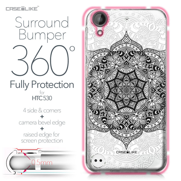 HTC Desire 530 case Mandala Art 2097 Bumper Case Protection | CASEiLIKE.com