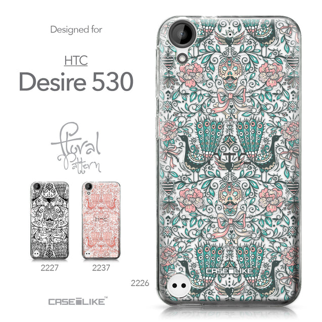 HTC Desire 530 case Roses Ornamental Skulls Peacocks 2226 Collection | CASEiLIKE.com