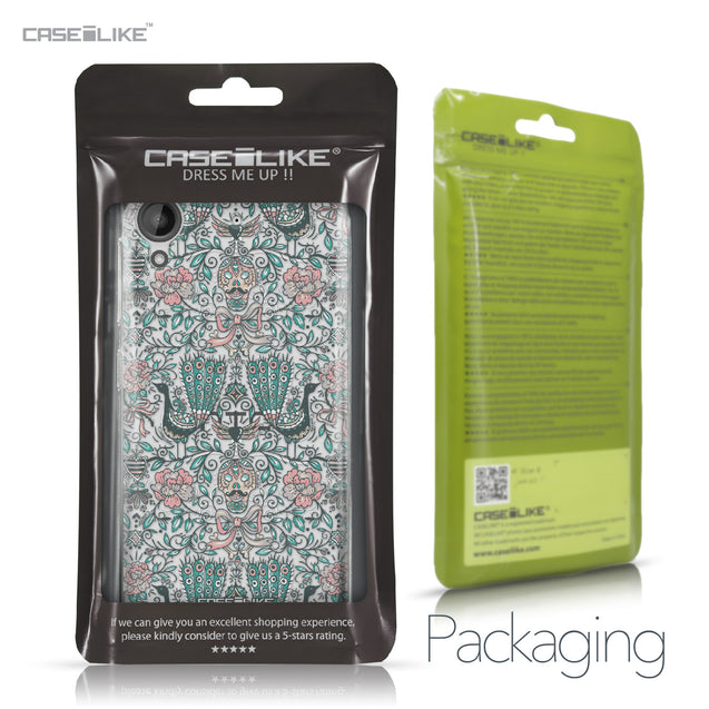 HTC Desire 530 case Roses Ornamental Skulls Peacocks 2226 Retail Packaging | CASEiLIKE.com