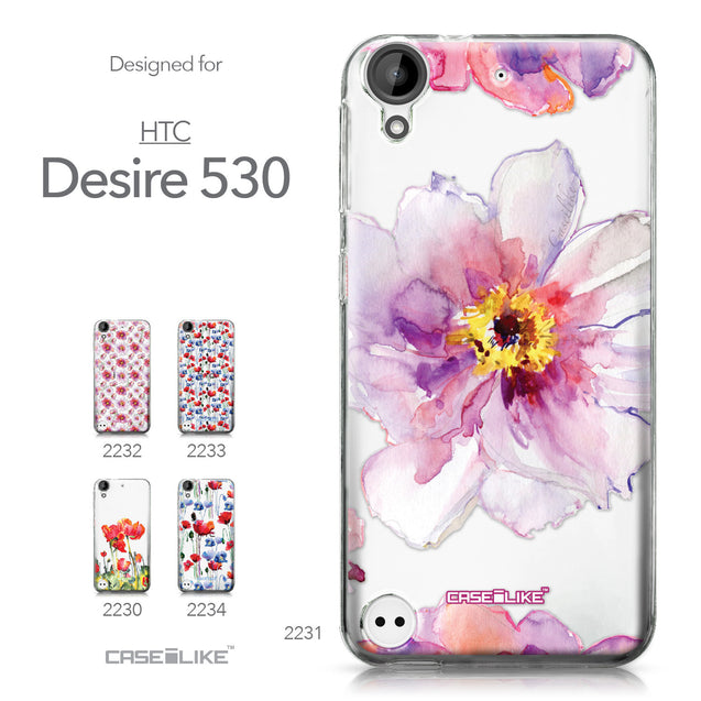 HTC Desire 530 case Watercolor Floral 2231 Collection | CASEiLIKE.com