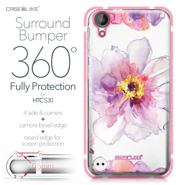 HTC Desire 530 case Watercolor Floral 2231 Bumper Case Protection | CASEiLIKE.com