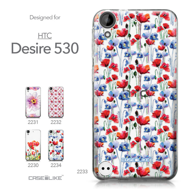 HTC Desire 530 case Watercolor Floral 2233 Collection | CASEiLIKE.com