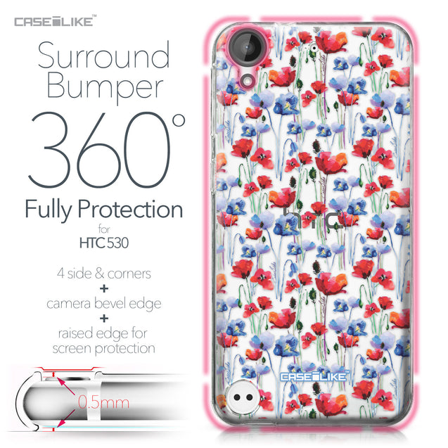 HTC Desire 530 case Watercolor Floral 2233 Bumper Case Protection | CASEiLIKE.com