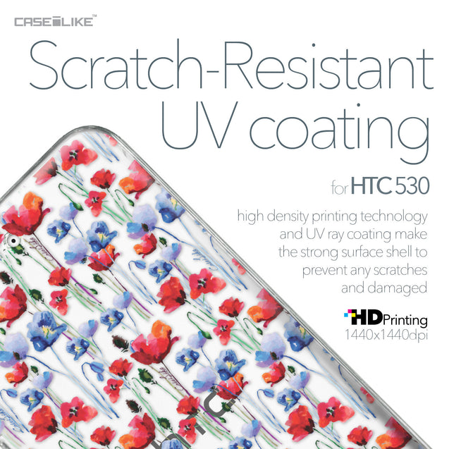 HTC Desire 530 case Watercolor Floral 2233 with UV-Coating Scratch-Resistant Case | CASEiLIKE.com