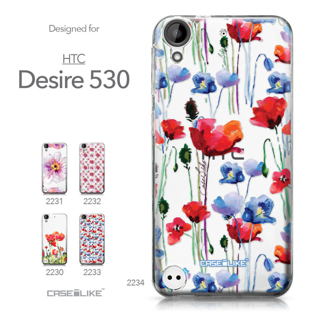 HTC Desire 530 case Watercolor Floral 2234 Collection | CASEiLIKE.com