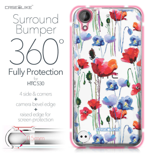 HTC Desire 530 case Watercolor Floral 2234 Bumper Case Protection | CASEiLIKE.com