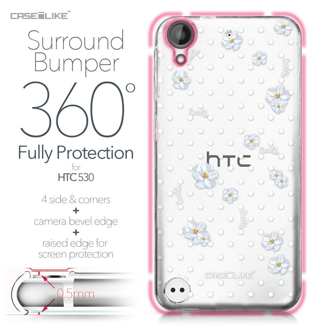 HTC Desire 530 case Watercolor Floral 2235 Bumper Case Protection | CASEiLIKE.com