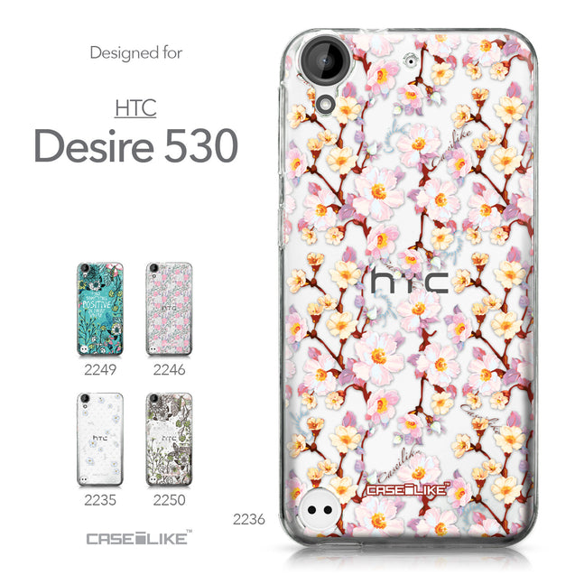 HTC Desire 530 case Watercolor Floral 2236 Collection | CASEiLIKE.com