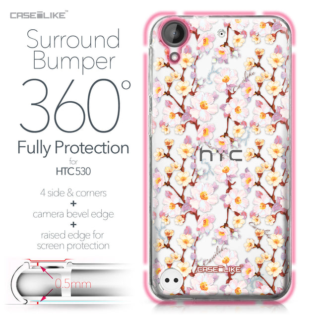 HTC Desire 530 case Watercolor Floral 2236 Bumper Case Protection | CASEiLIKE.com