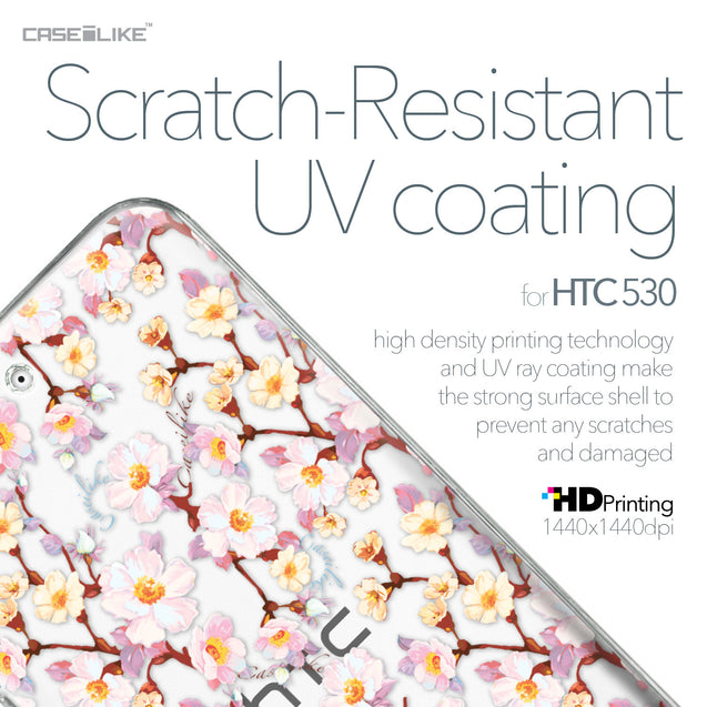 HTC Desire 530 case Watercolor Floral 2236 with UV-Coating Scratch-Resistant Case | CASEiLIKE.com