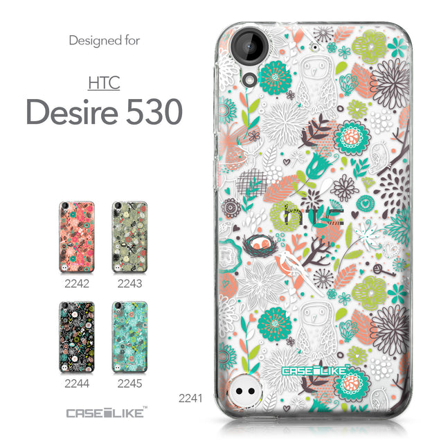 HTC Desire 530 case Spring Forest White 2241 Collection | CASEiLIKE.com