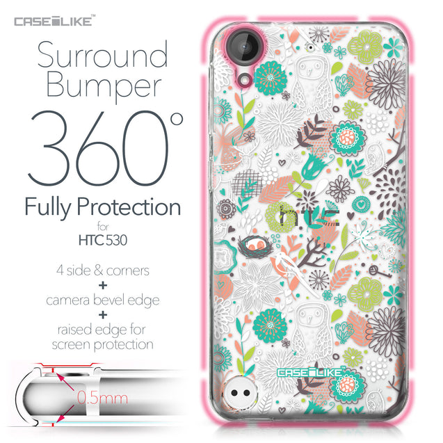 HTC Desire 530 case Spring Forest White 2241 Bumper Case Protection | CASEiLIKE.com