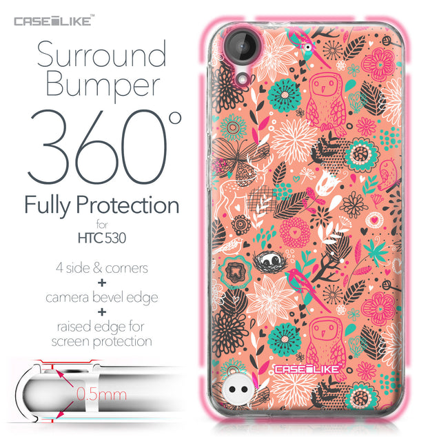 HTC Desire 530 case Spring Forest Pink 2242 Bumper Case Protection | CASEiLIKE.com