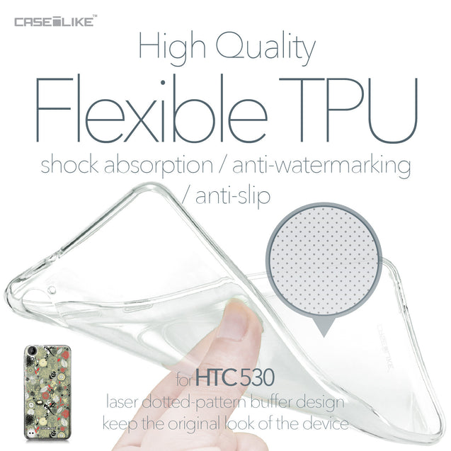 HTC Desire 530 case Spring Forest Gray 2243 Soft Gel Silicone Case | CASEiLIKE.com