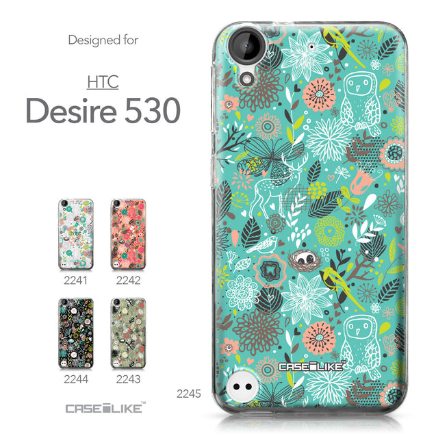 HTC Desire 530 case Spring Forest Turquoise 2245 Collection | CASEiLIKE.com