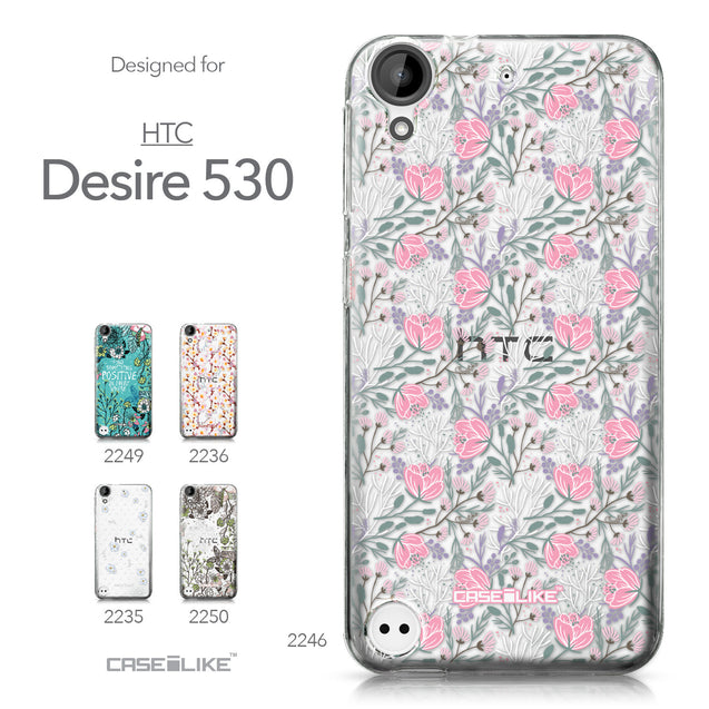 HTC Desire 530 case Flowers Herbs 2246 Collection | CASEiLIKE.com