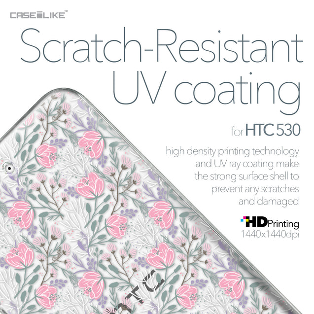 HTC Desire 530 case Flowers Herbs 2246 with UV-Coating Scratch-Resistant Case | CASEiLIKE.com
