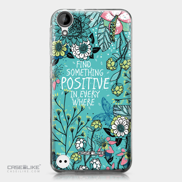 HTC Desire 530 case Blooming Flowers Turquoise 2249 | CASEiLIKE.com