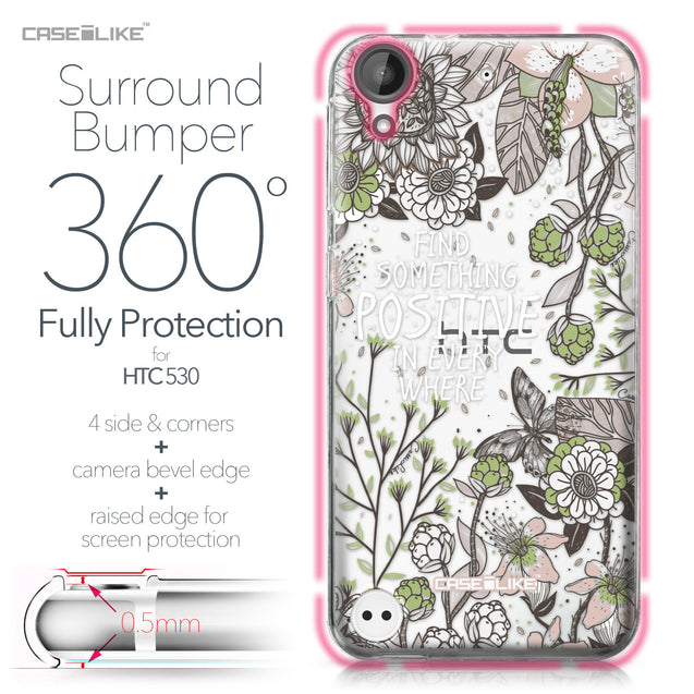 HTC Desire 530 case Blooming Flowers 2250 Bumper Case Protection | CASEiLIKE.com