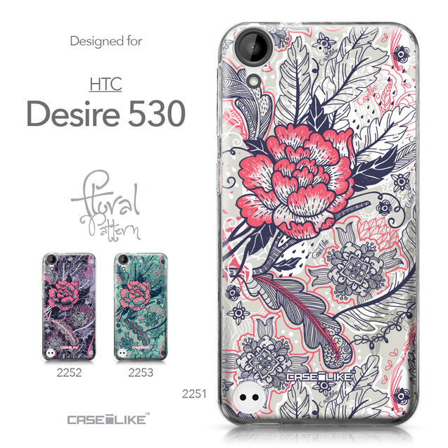 HTC Desire 530 case Vintage Roses and Feathers Beige 2251 Collection | CASEiLIKE.com