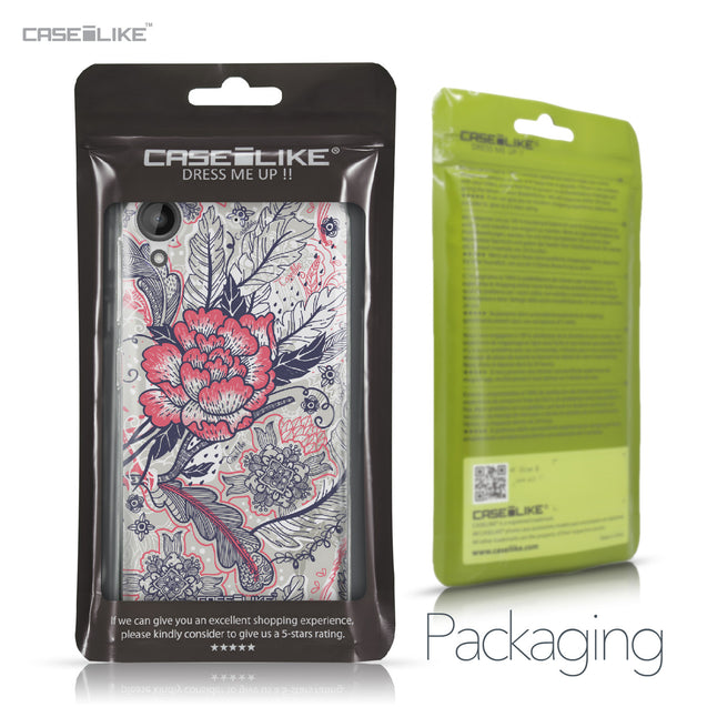 HTC Desire 530 case Vintage Roses and Feathers Beige 2251 Retail Packaging | CASEiLIKE.com