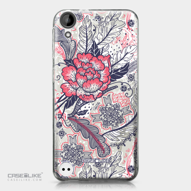 HTC Desire 530 case Vintage Roses and Feathers Beige 2251 | CASEiLIKE.com