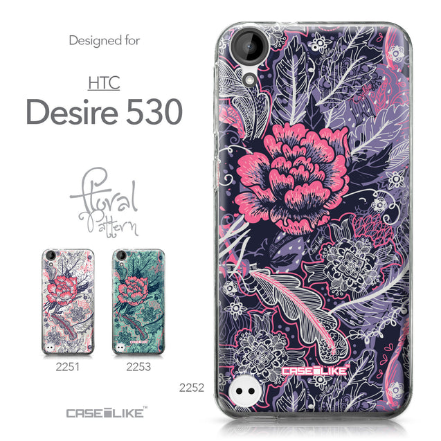 HTC Desire 530 case Vintage Roses and Feathers Blue 2252 Collection | CASEiLIKE.com
