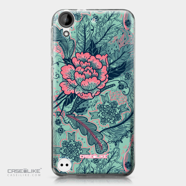 HTC Desire 530 case Vintage Roses and Feathers Turquoise 2253 | CASEiLIKE.com
