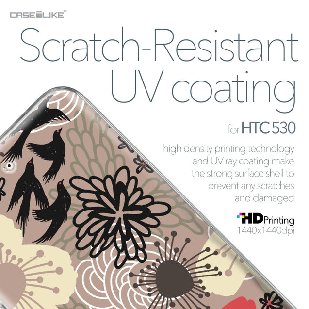 HTC Desire 530 case Japanese Floral 2254 with UV-Coating Scratch-Resistant Case | CASEiLIKE.com